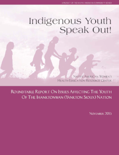 Cover over the Indigenous Youth Speak Out roundtable Report